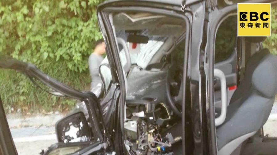 即時》多良附近預拌車與廂型車對撞  2人死亡