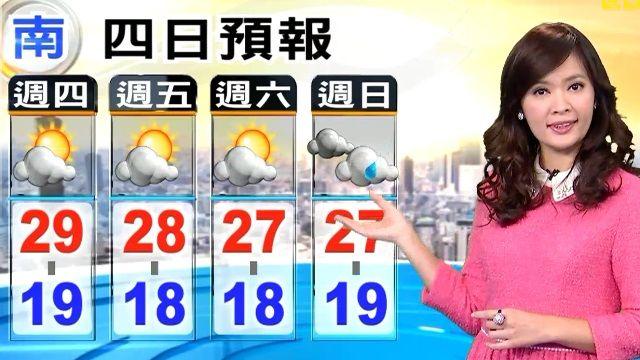 【2015/12/03】東北風增強 今北部涼颼颼 中南部舒適