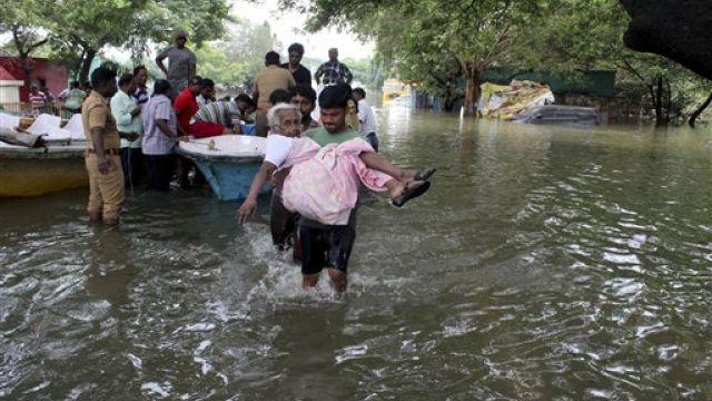 暴雨侵襲印度 數萬人遷徙269人死亡