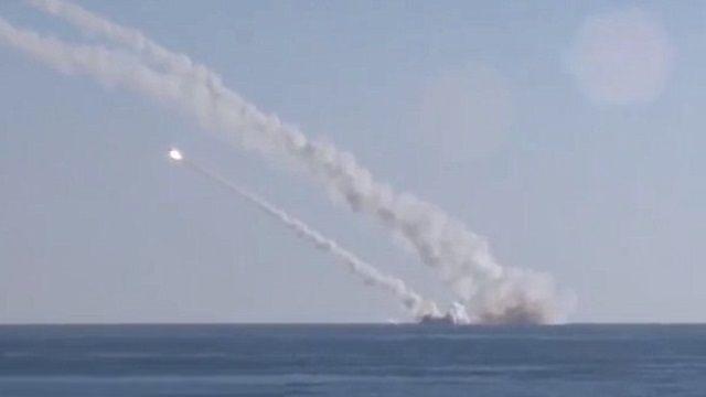 首次擊中IS目標  俄地中海潛艦發射飛彈