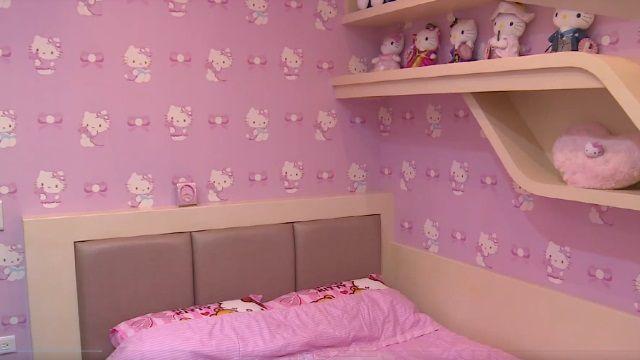 替女兒打造夢幻粉紅屋 房內全是Kitty品