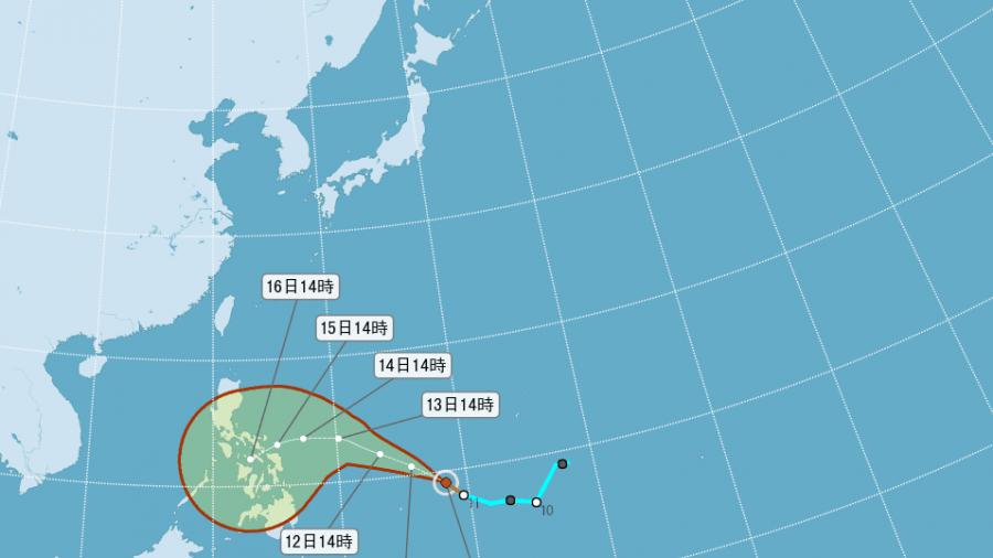 關島南方27號颱風「茉莉」成形!