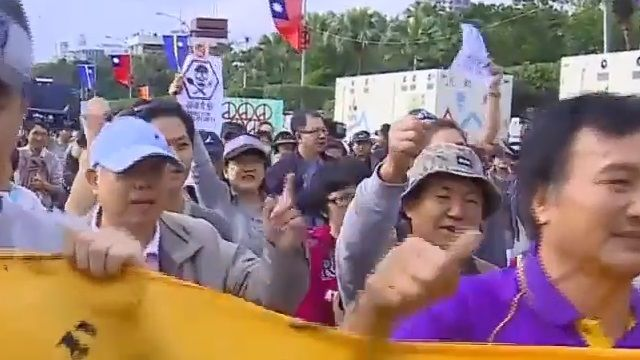 抗議頂新、要求食安 凱道遊行千人響應