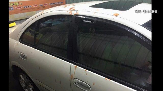 從天而降!車主遭檳榔汁襲擊「找嘸人」