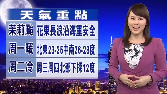 【2015/12/13】明多雲到晴 北東局部雨 沿海防風浪
