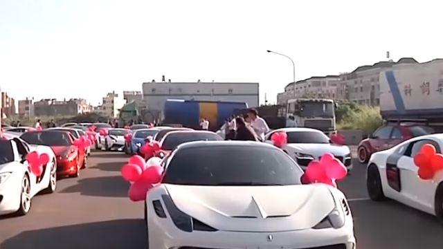 藝人丁寧弟補辦婚禮「5億超跑車隊」吸睛