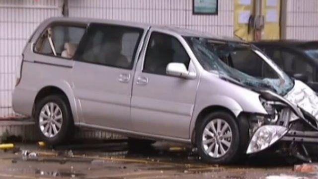大樓水塔爆裂「紅磚雨」砸毀底下8車