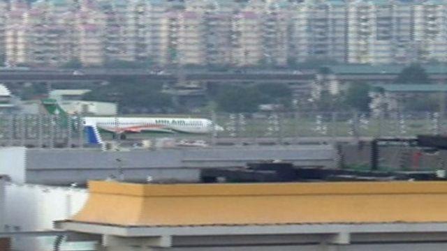 松山機場疑遭放爆裂物 警方引爆排除