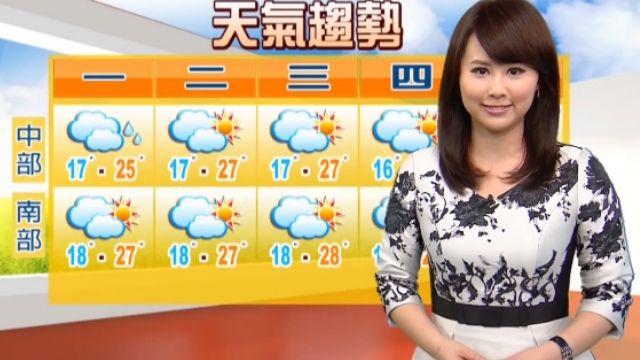 【2015/12/20】陽光有機會露臉 周三前全台溫度再升