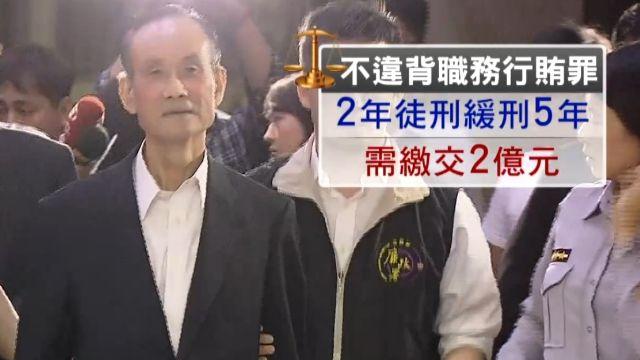 合宜宅弊案 趙藤雄獲緩刑5年 捐2億定讞