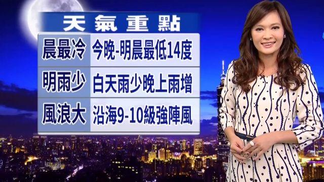 【2015/12/28】跨年夜北東雲多 中南晴