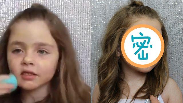 姊姊們都驚豔!5歲的她化妝技法超水準