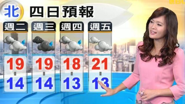 今晚-明天北東雨增  跨年夜雨緩涼冷