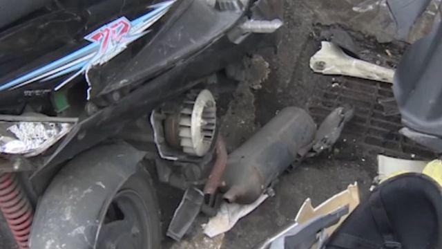 道路保齡球!駕駛身體不適 撞毀6台機車