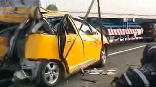 國道南下麻豆路段 三車連環撞一死八傷