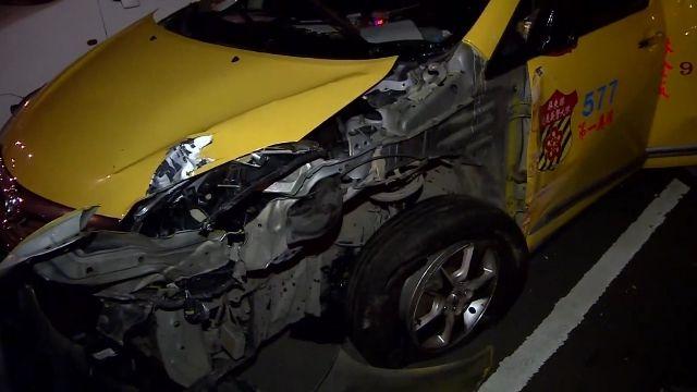 情侶吵架拉手煞車害追撞 國道一死八傷