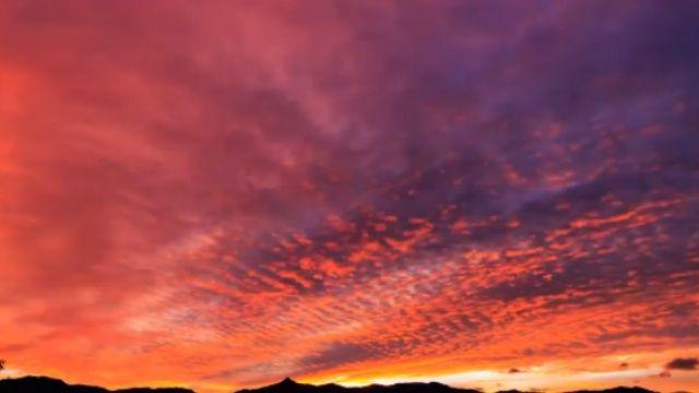 阿里山日出火燒雲  七彩超夢幻