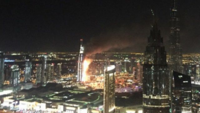 哈里發塔附近大樓跨年夜失火 至少16傷
