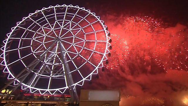 高雄義大888秒煙火吸睛 十萬人倒數迎新年