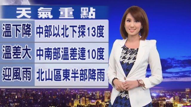 【2016/01/08】台北山區、東半部雲量偏多 局部短暫雨