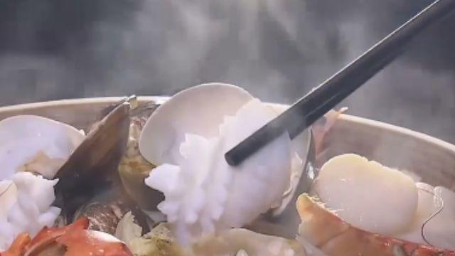 海鮮「鏗鏘鍋」 蒸、涮一鍋兩吃超豐富