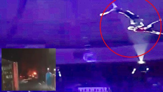 塔吉克馬戲團驚傳意外 女舞者10公尺高空墜落