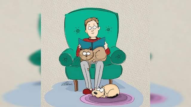 貓與狗的差別 俄插畫家完美呈現
