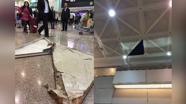 險些砸傷人!桃機二航廈驚見天花板掉落