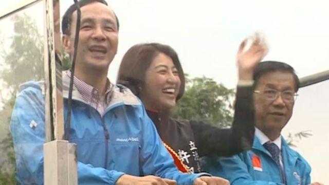 蔡走朱來! 南投掃街 支持者跑跳擊掌