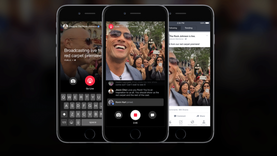 臉書:Android直播開放了