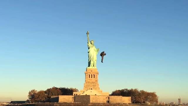 世界第一人 噴射升空和自由女神say Hi