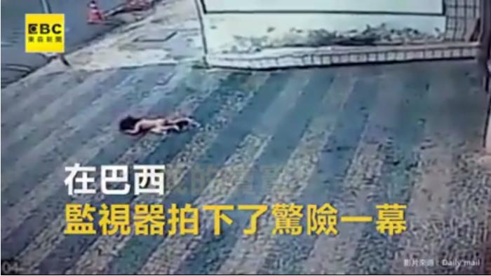 巴西1歲童墜樓 奇蹟不死僅輕傷