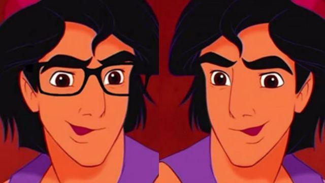 先生你哪位?! 迪士尼男角戴上眼鏡後…