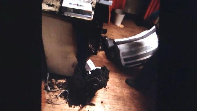 危險!除濕機突自燃 房間燒成焦黑