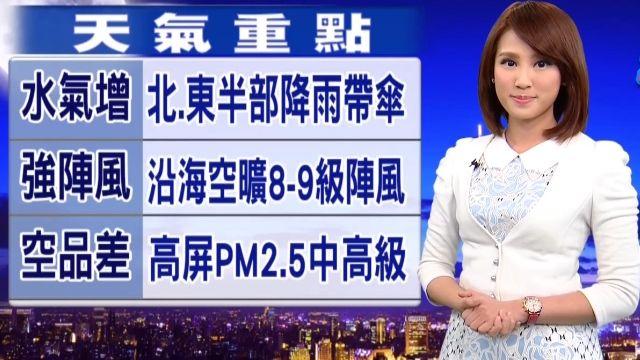 【2016/01/20】明冷氣團減弱為東北季風 溫略回升1-2度