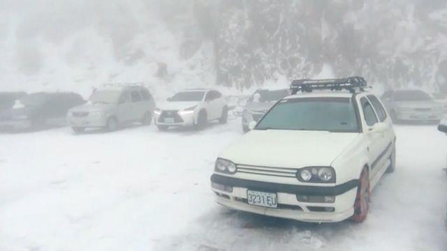 不夠冷!合歡山4度 僅降雨積雪消融