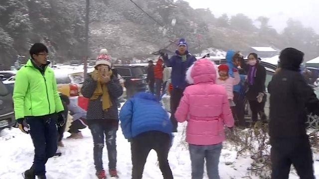 冷到爆!「帝王寒流」發威 松雪樓積雪30公分