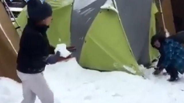 下雪了! 雪霸國家公園-7℃ 積雪15公分