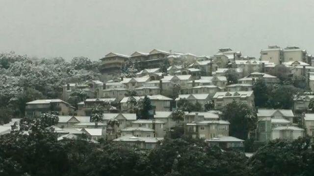 彷彿置身歐洲! 新店山區國小、華城社區飄雪