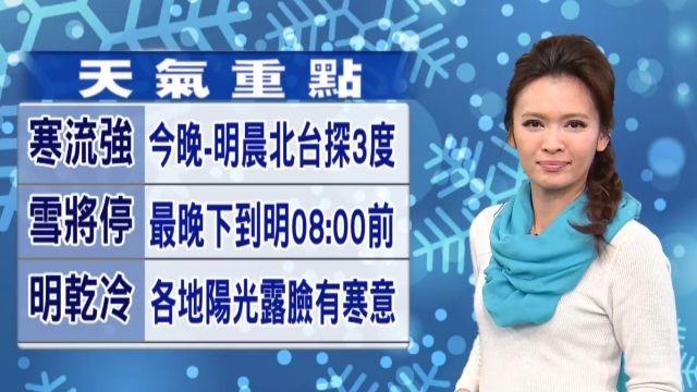 今明兩天最寒冷 務必加強保暖 防寒害