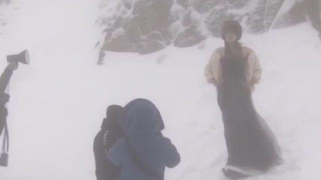 合歡山積雪50公分  準新人忍凍拍雪地婚紗
