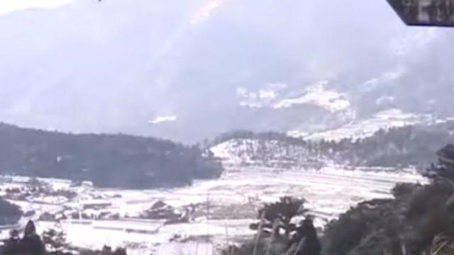 竹子湖白雪美景 猶如日本合掌村