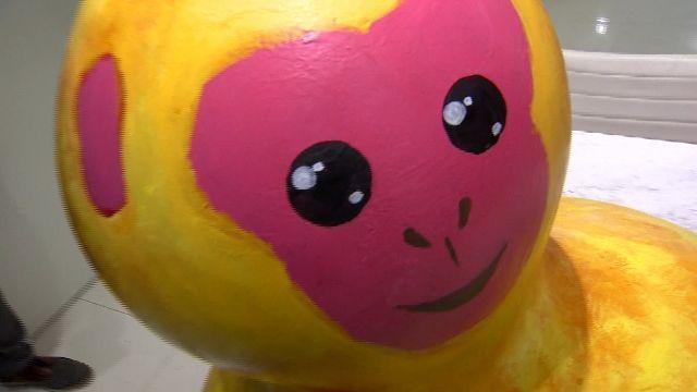 台北燈節「福祿猴」主燈 網友毒舌:像黃色小鴨