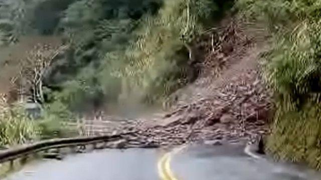 太平山公路坍方路斷 雙向無法通行