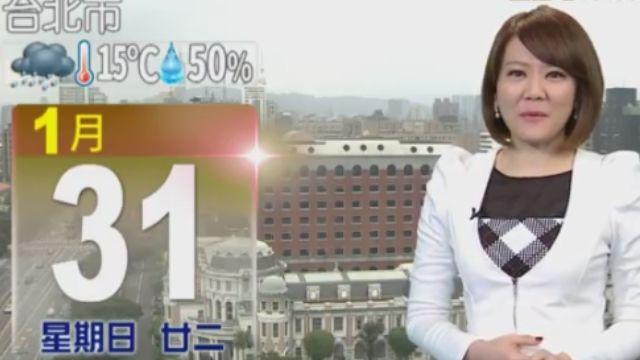 【2016/01/31】鋒面走 季風到吹涼冷空氣 溫降2-3度