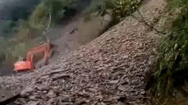 連日雨太平山唯一連外道路坍 234遊客困山上