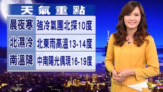 【2016/02/01】變強烈冷氣團 今晚到明晨冷空氣最強最冷