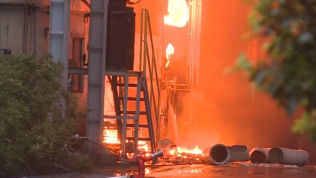 大火有毒!興農化工廠爆炸 烈火沖天1死1傷