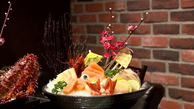 帝王蟹、生魚片新鮮高檔食材 應有盡有「吃到飽」