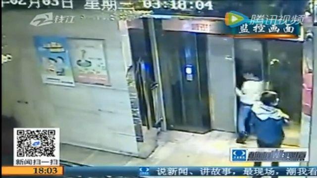醉男「助跑」踹破電梯門 踩空摔一樓左腿斷